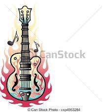 tattoo design guitar flames art tattoo design of a rock and
