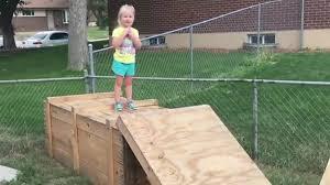 Backyard Obstacle Course Ideas Watch Littlest U0027ninja Warrior U0027 Tackle Homemade Obstacle Course