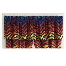 rainbow zebra print valance 07152100032km kimlor mills inc