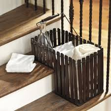 23 best stair baskets images on pinterest stair basket stairs