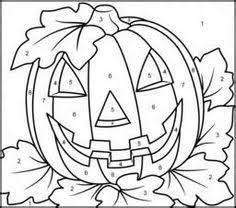 photo halloween fall color number unnumbered coloring