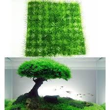 new artificial water aquatic green grass plant lawn aquarium fish