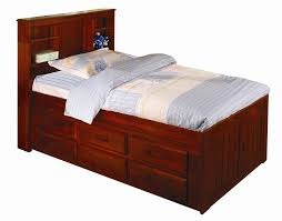 bedroom cool twin captains bed design with storage and bed cover