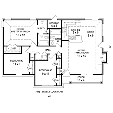 Garage House Floor Plans Fascinating 3 Bedroom House Plans No Garage Photos Best Idea