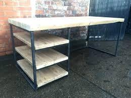 bureau metal et bois bureau style industriel en metal et bois bureau caruso style