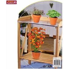 cura giardino in legno da giardino cura delle piante fiori tavolino piano in metallo