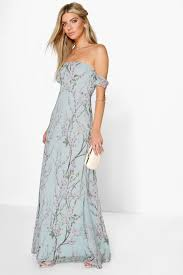 maxi dress floral the shoulder maxi dress boohoo