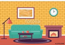 cartoon living room background room interior vector living design lounge cartoon background in