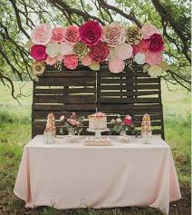 creating a stunning paper flower backdrop for a wedding or any