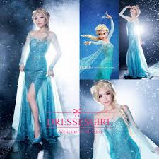 halloween prom costumes 2017 2015 frozen anna elsa cosplay dresses fashion halloween theme