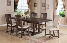 trestle dining table set xcalibur expresso rectangular trestle dining room set by winners