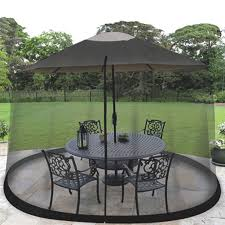 Patio Umbrella With Screen Enclosure Jb5678 Garden Creations Mosquito Net Bug Screen House Mesh Canopy