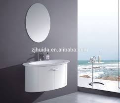 Oval Vanity Mirrors For Bathroom Round Oval Shape Pvc Bathroom Vanity Buy Laundry Cabinet Wall Hang