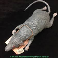 big realistic dead rat in a trap latex halloween haunted house