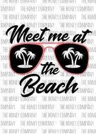 palm tree svg meet me at the beach svg png dxf shades sunglasses palm tree
