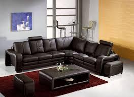 canapé en cuir marron deco in canape d angle en cuir marron avec appuie tete relax