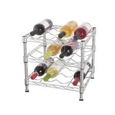 hdx 3 tier wire countertop wine rack in chrome hhbfz 2601 the