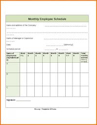 employee schedule template monthly employee schedule template 1