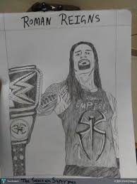 roman reigns sketch touchtalent for everything creative