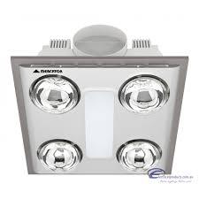 Led Bathroom Fan Cosmo Quattro 12w Led Bathroom 3 In 1 Exhaust Fan Light Heater Silver