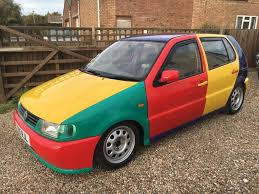 modified volkswagen polo 1999 vw polo 6n harlequin modified promo car get noticed