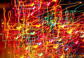 christmas lights abstract art ne wall