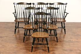maple dining chairs sold set of 6 signed hitchcock vintage stenciled maple dining