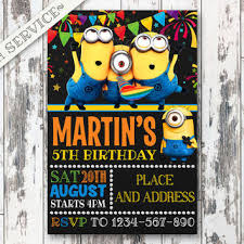 best minion birthday party invitations products on wanelo