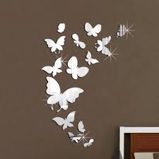 Diy Butterfly Decorations by Sweet Light Reflecting Butterfly Wall Sticker Wall Paper Creative