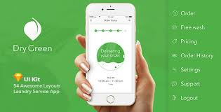 dry green service app ui by 2mediax themeforest
