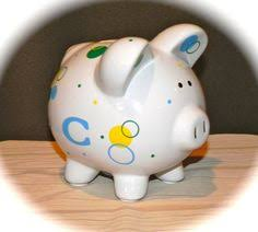 monogram piggy bank pink k initial piggy bank if they an a this would match