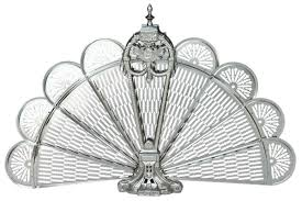 uniflame pewter ornate fan fireplace screen fss commerce zoostores