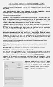 Green Card Resume Viveenus Apply Now
