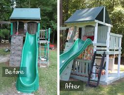 Swing Sets For Small Backyard by 15 Best Swingset Makeover Images On Pinterest Backyard Ideas