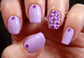acrylic nails designs with rhinestone how you can do it at home