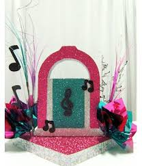 how to make retro s table decorations  awesome events blog with juke box retro s centerpiece idea  from awesomeeventcom