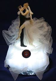 marine wedding cake toppers lighted marine wedding cake topper wedding fairytale dreams