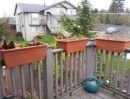 deck railing planters diy home design ideas