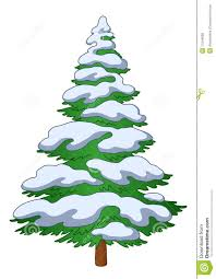 pine tree with snow clipart 33