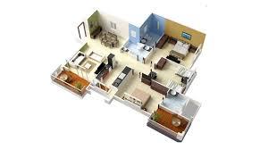 three room apartment 20 designs ideas for 3d apartment or one storey three bedroom floor