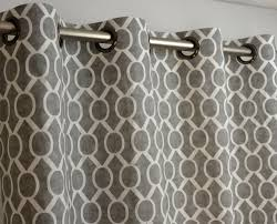 120 Drapery Panels Storm Gray White Sydney Geometric Honeycomb Curtains Grommet