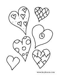 valentine hearts coloring pictures clip art library