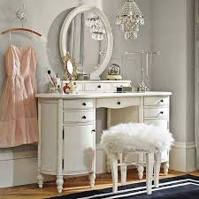 Bobkona St Croix Collection Vanity Set With Stool White Furniture Kidkraft Vanity Table And Stool Interior Decoration