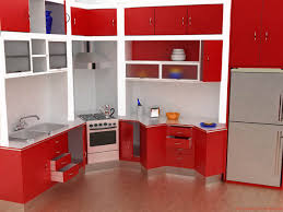 red kitchen design furniture attractive black wooden wall mounted cabinet in kitchen