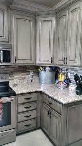 white kitchen cabinets with gray glaze valspar aspen gray with black glaze new kitchen cabinets