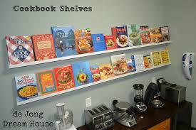 book stacking ideas de jong dream house cook book shelves