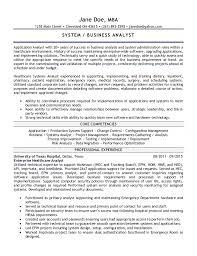 system analyst resume analyst resume