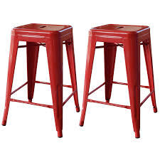 24 inch high bar stools amazon com amerihome 2 piece metal bar stool red 24 inch