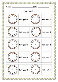 half past worksheet by ruthbentham teaching resources tes