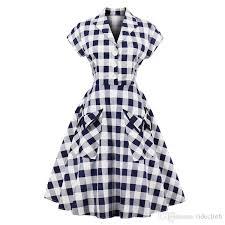 chic women u0027s 1950 u0027s plaid retro swing rockabilly dress big plus